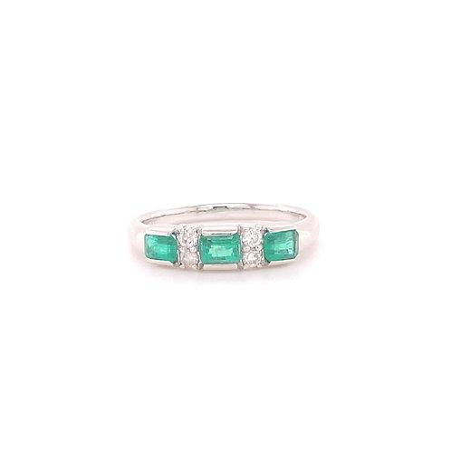 Emerald Ring 90% Platinum