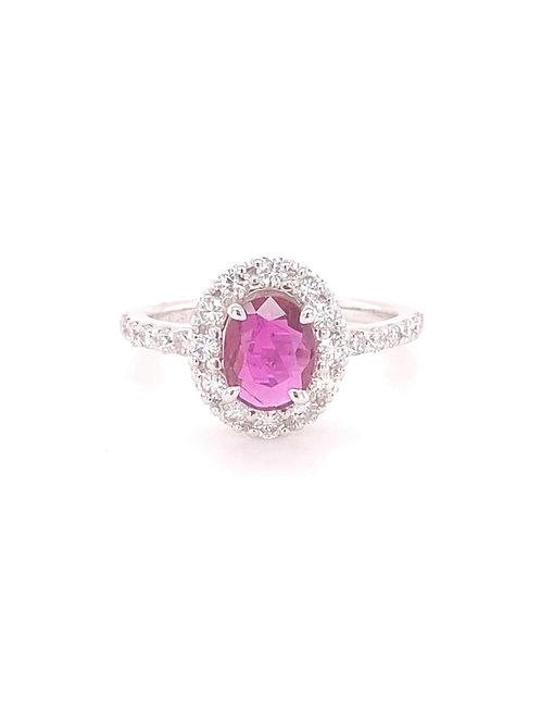 Ruby Ring 90% Platinum