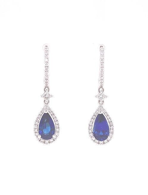 Sapphire Earrings 18K White Gold
