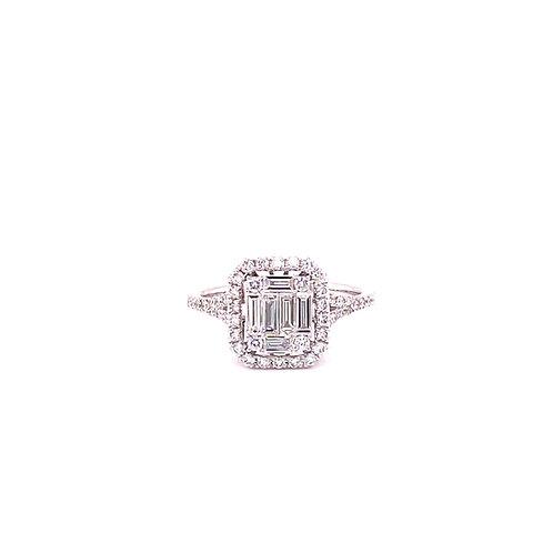 Diamond Ring 18K White Gold