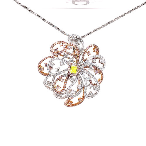 Fancy Diamond Pendant 900 Platinum