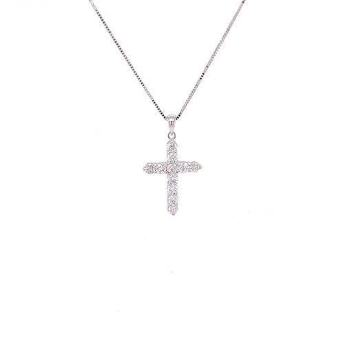 Diamond Pendant 18K White Gold