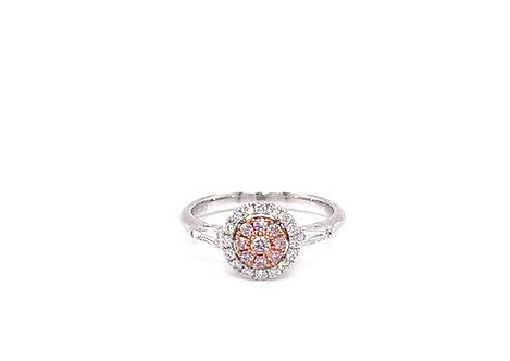 Fancy Diamond Ring 18K White Gold