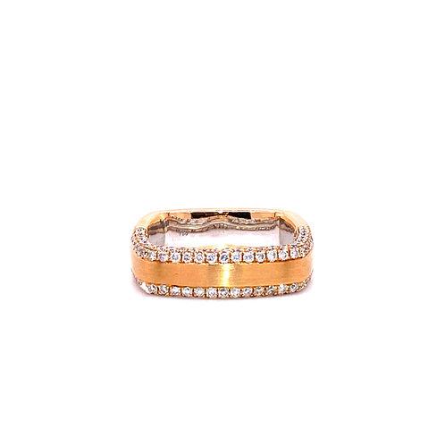 Diamond Ring 18K White & Rose Gold