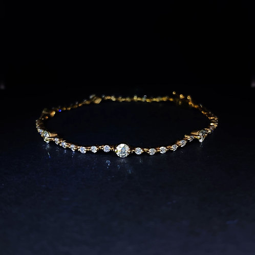 Diamond Bracelet 18K Yellow Gold