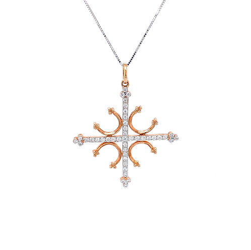 Diamond Pendant 18K Rose Gold