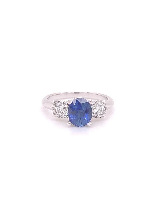 Sapphire Ring 18K White Gold