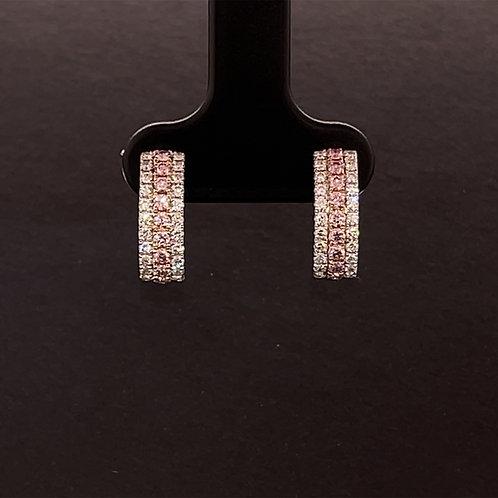 Fancy Diamond Earrings 18K White Gold