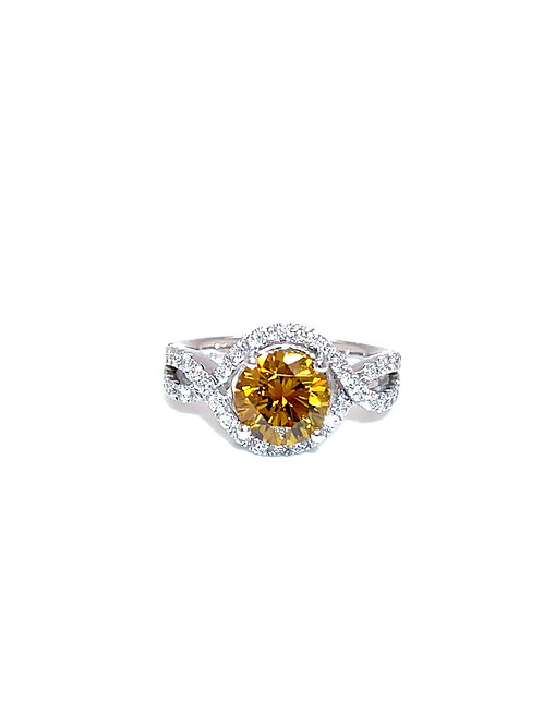 Fancy Diamond Ring 950 Platinum