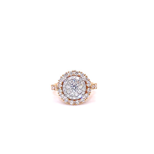 Diamond Ring 18K Rose Gold