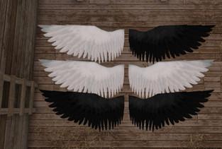 Avorymoon - Pegasus Black & White Wings