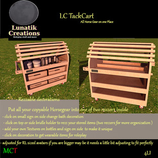 Lunatik Creations - Tack Cart