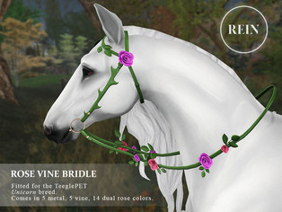 [REIN] Rose Vine Bridle