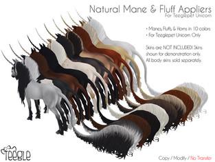 [Teegle] Natural Mane & Tail Fluffs (Unicorn)