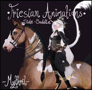 *~Mythril~* Friesian Animations: Side Saddle