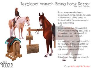 Teeglepet Riding Horse Rezzer