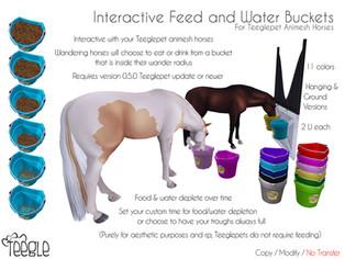 [Teegle] Interactive Feed & Water Buckets