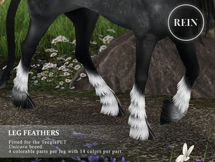 [REIN] Leg Feathers (Unicorn)