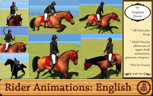 Brass Ring Ranch: English Rider Animations