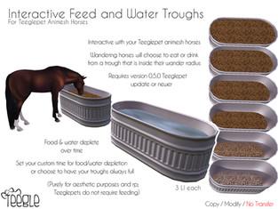 [Teegle] Interactive Feed & Water Troughs