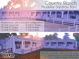 Country Ranch Modular Shedrow Barn