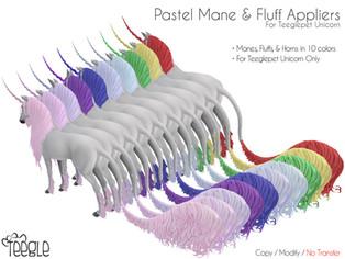 [Teegle] Pastel Mane & Tail Fluffs (Unicorn)