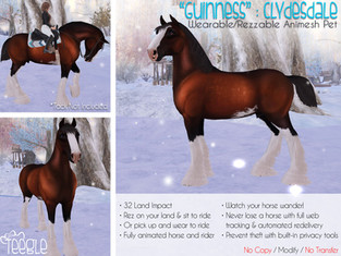 """""""Guinness"""" the Clydesdale Horse"""