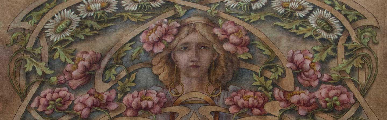 Viso di donna caffetteria Le Jardin Fleuri Gusti Liberty