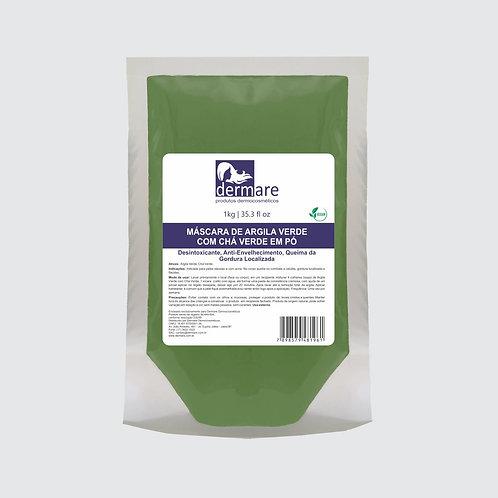 Argila Verde com Chá Verde em Pó