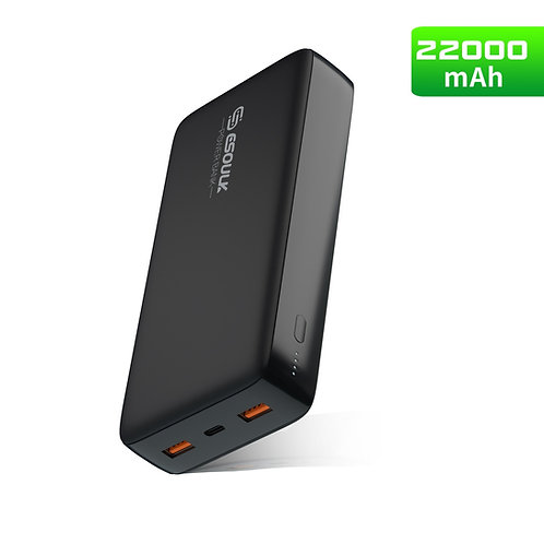 Esoulk 22000mAh PD & Dual Fast Charge USB Power Bank