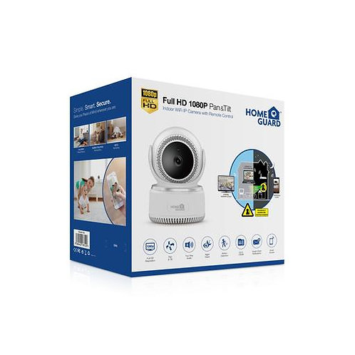 HomeGuard Full HD 1080P Pan & Tilt WI-FI Camera with Remote Control