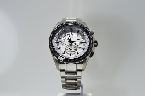 Seiko Astron Dual Time GPS Solar Chronograph Watch