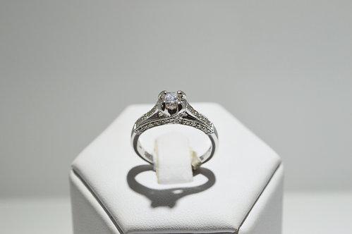 18ct White Gold Princess Cut Diamond Ring