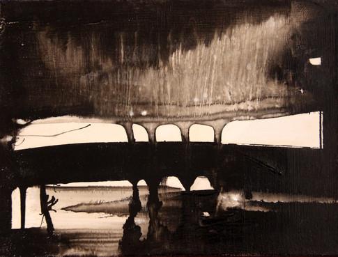 Sous un pont  12x9  #109