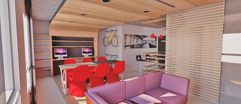 Projeto de sala multiuso para apartamento da Maxhaus