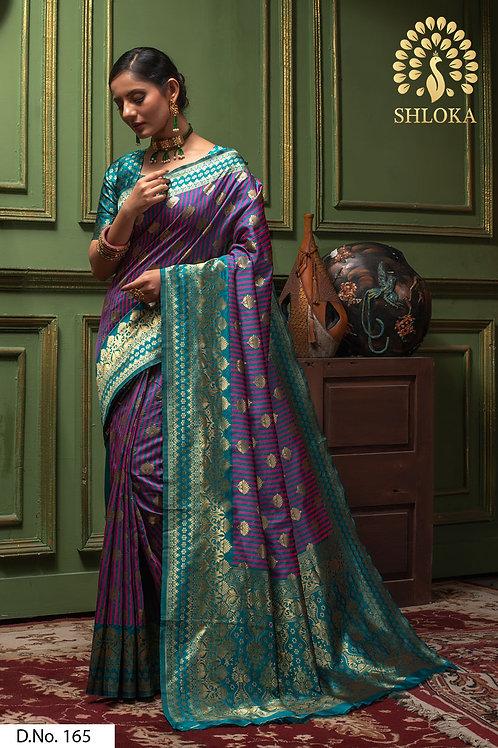 Perfect Rama And Pink Color Silk Saree