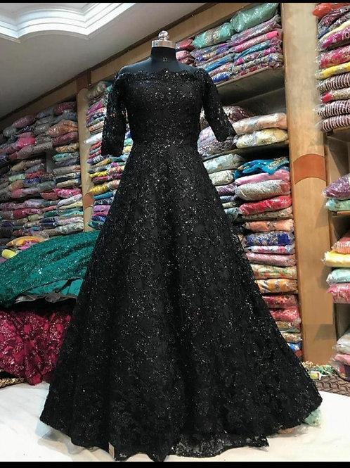 Beautiful Party Wear Black Gown