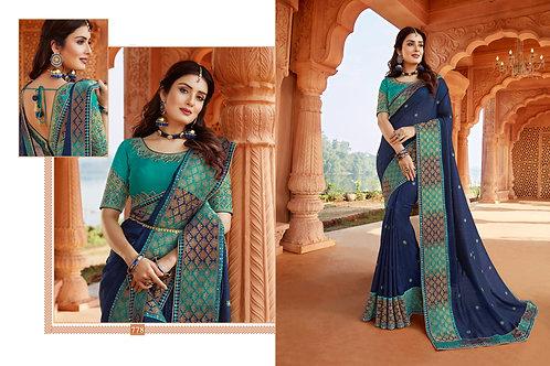 Heavy Silk Blue Color Saree