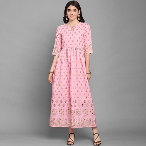 Awesome New Pink Color Kurti Launching Designer For Monsoon