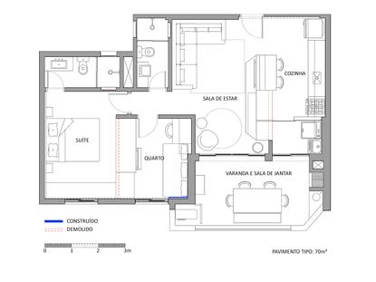 Planta da reforma do apartamento Itararé | PAGAMA arquitetura + design