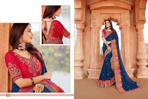 Heavy Silk Red Color Saree