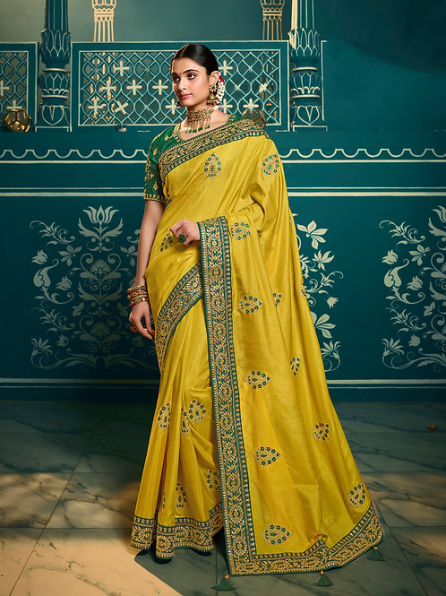 Mehendi Designer Traditional Saree