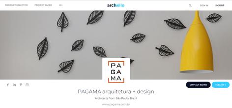 Portal Archello | PAGAMA arquitetura + design