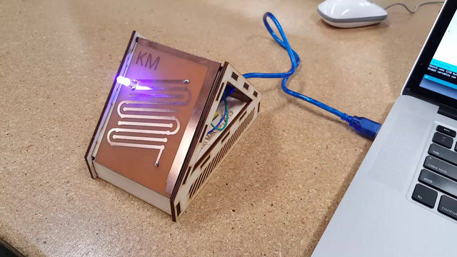 Prototyping Circuit Boards, Adding Laser Cut Display
