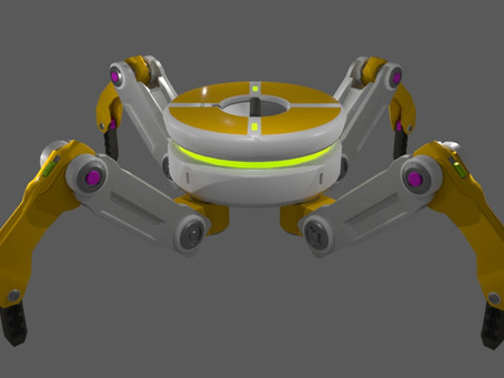 Rigged Quadruped Robot