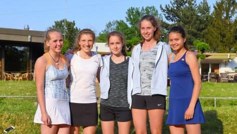 v. l.: Wiebke Kröll, Chiara Calicchia, Luise Kettner, Kirsten Radtke, Nantiya Gallo Balma.