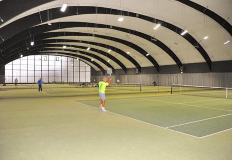 Training in der Blau-Schwarz Halle