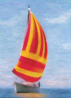 jThe Mintaka sailboat in full sail