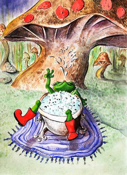 Childrens Illustrations of frog