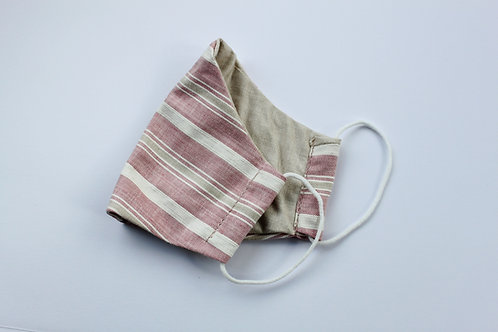 Pink Striped Face Mask
